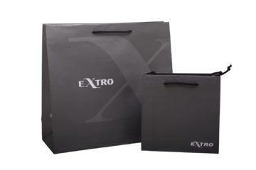 borsette in carta nero chiaro di varie dimensioni