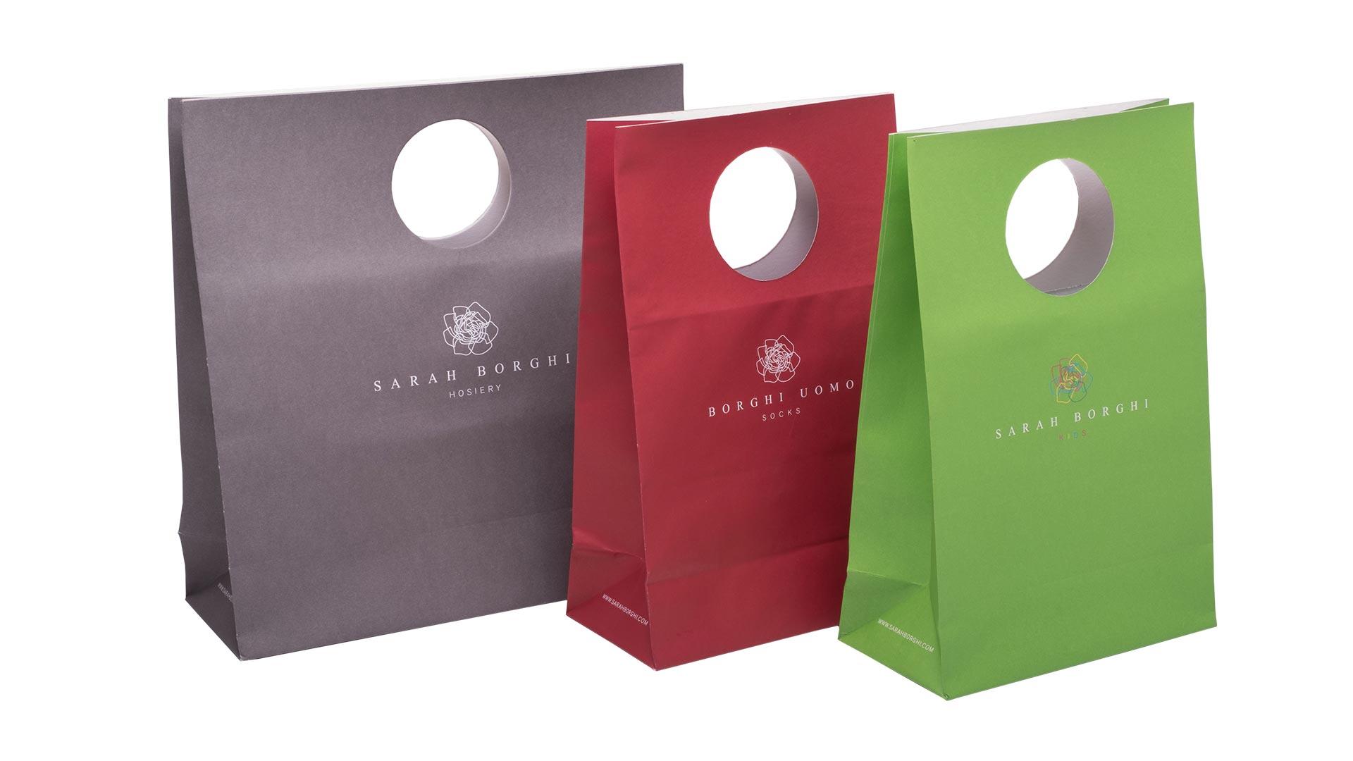 borsette in carta di vario colore
