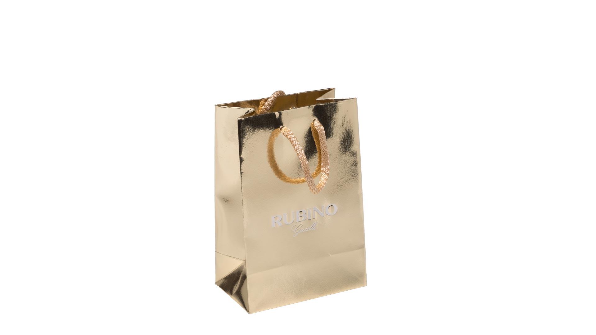 borsetta in carta colore oro patinato