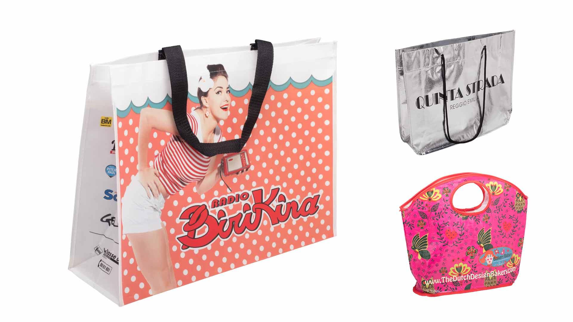 borsette in plastica di vari modelli