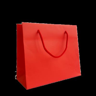 borsetta in carta di colore rosso