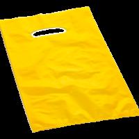 borsetta in plastica di colore giallo