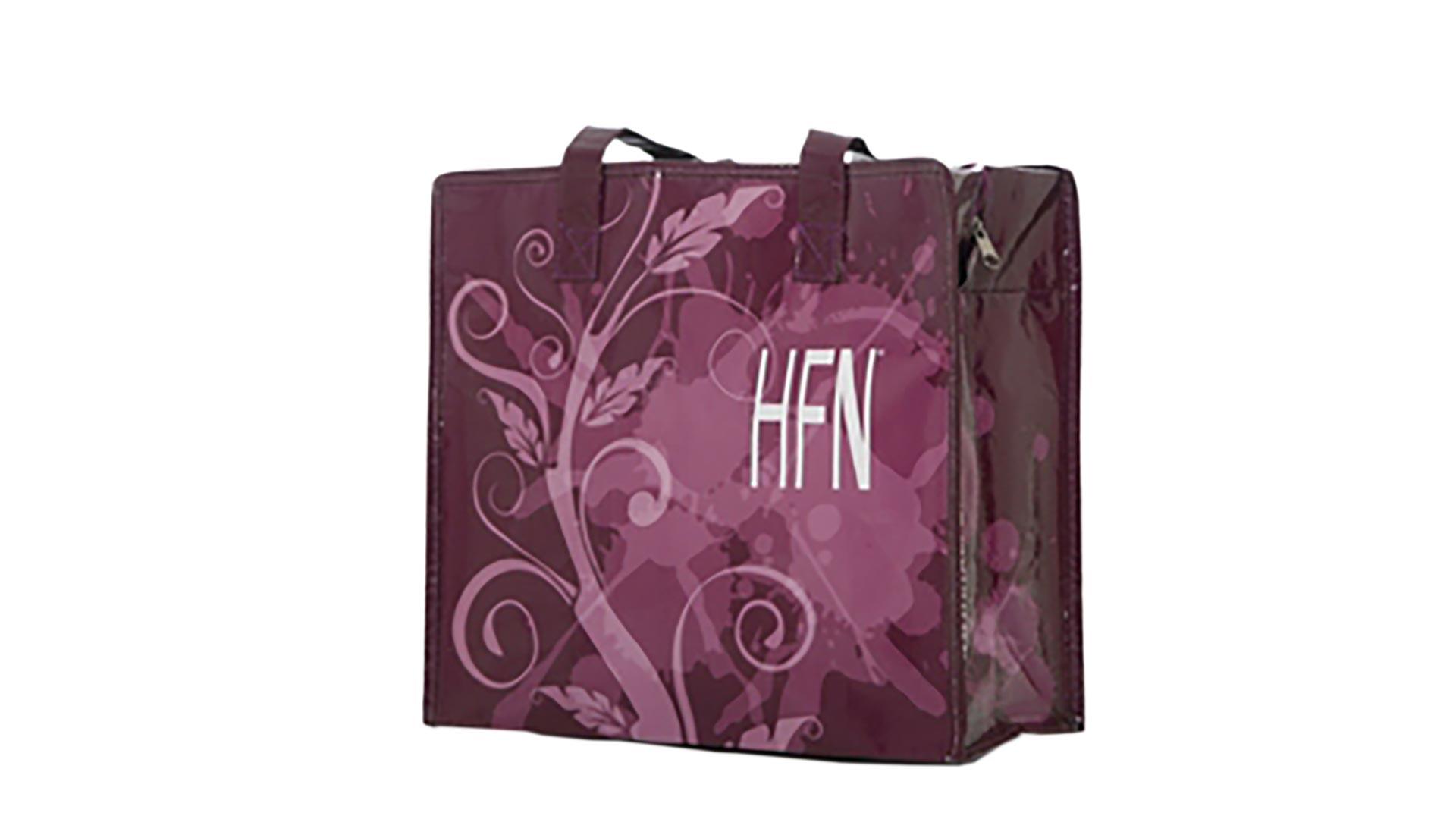 borsetta con zip sfondo viola
