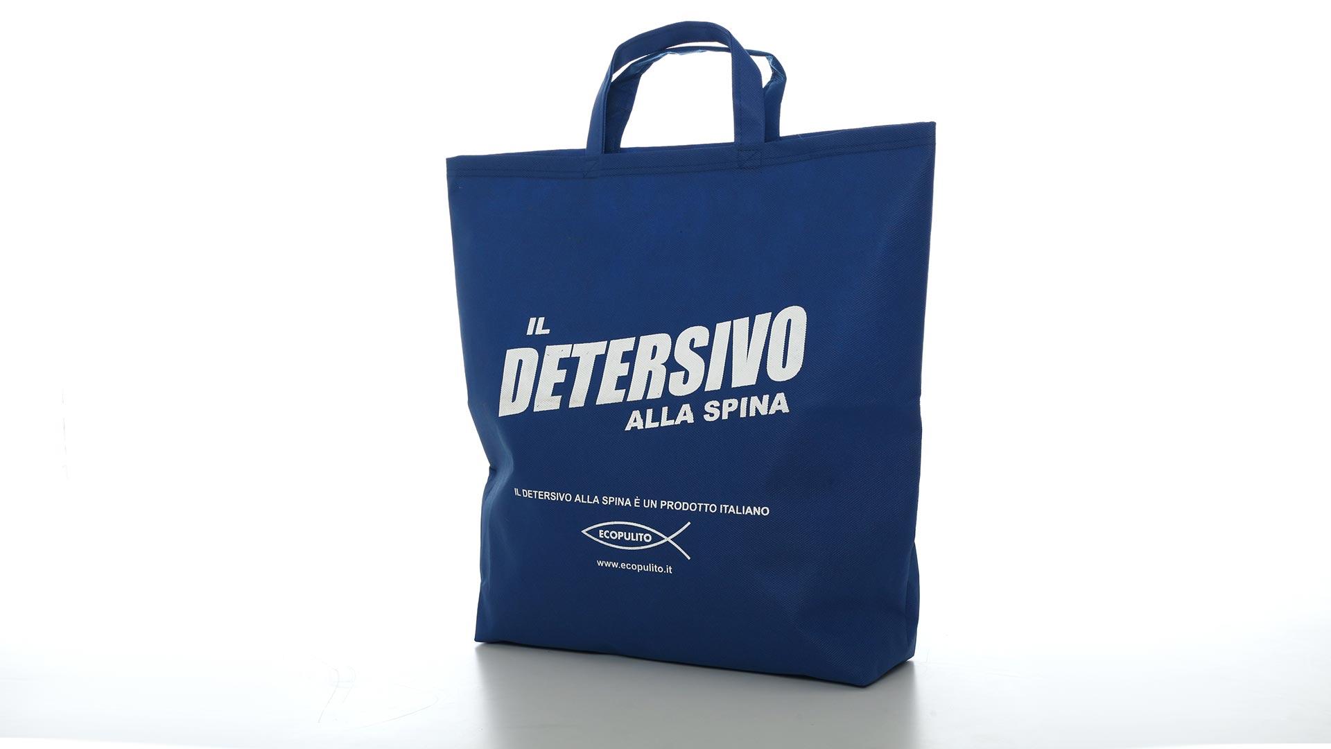 borsetta con maniglie di colore blu